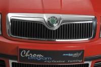 Lišta masky - chrom Škoda SuperB