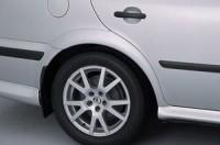 Nástavky blatníků normal - černé Škoda Octavia rok výroby 1998-2001