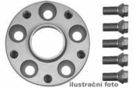 HR podložky pod kola (1pár) ŠKODA Favorit rozteč 100mm 4 otvory stř.náboj 57,1mm -šířka 1podložky 25mm /sada obsahuje montážní materiál (šrouby, matice)